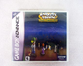 Harvest Moon: Friends of Mineral Town GBA - GameBoy Advance  Custom Case  (***No Game***)