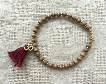 Buddhist Yoga Bracelet - Yoga Bracelet - Buddhist Bracelet - Yoga Jewelry - Meditation Bracelet - Mala Bracelet - Buddhist Jewelry - Yoga