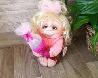 A student as a doll crafted handmade for kids gift for children back to school first day of school