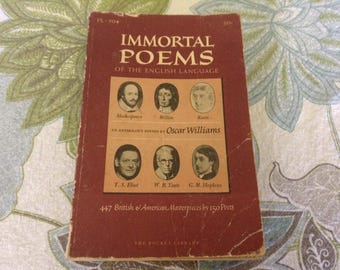 Immoral Poems of the English Language. 1959 Edition.