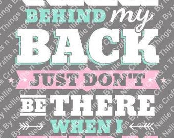 Behind my back SVG