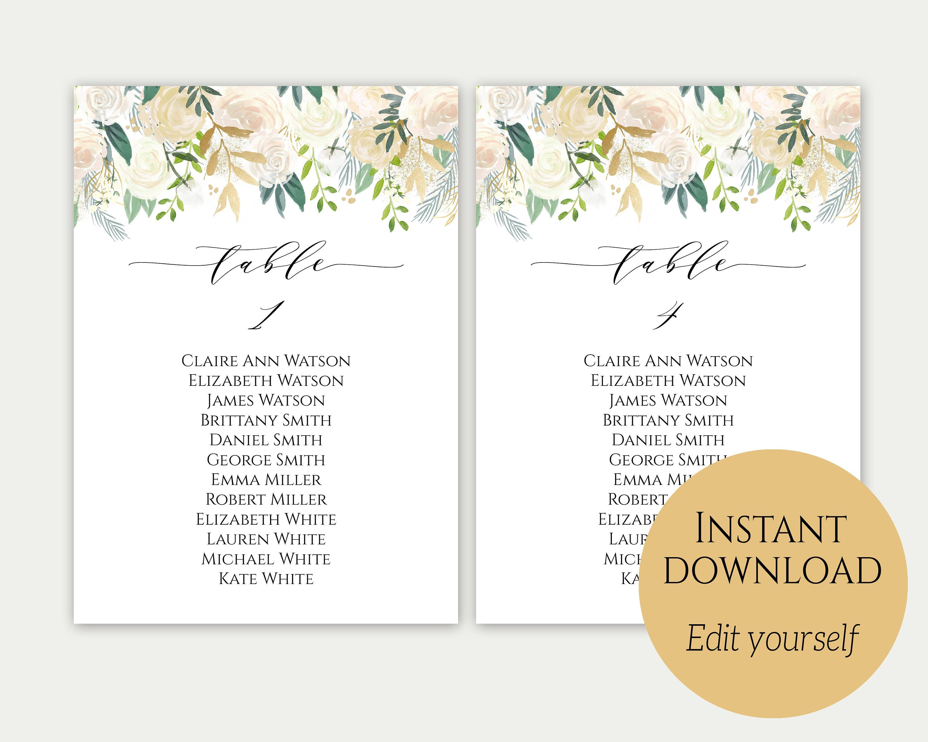 Wedding seating chart template seating cards gold seating cards wedding seating chart template seating cards gold seating cards seating chart template maxwellsz