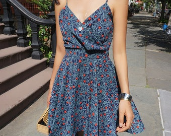 Short Dress with Red Dots