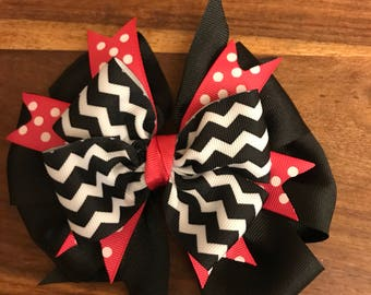 Girls Black and Pink Hairbow