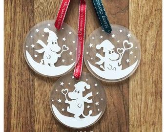 Moomins Christmas Bauble, Moomin tree decoration, Moomins