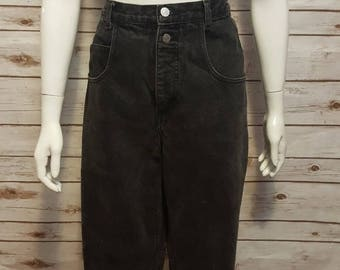 "Vintage, 80's, Guess High waist ""mom"" jeans, black, 33"