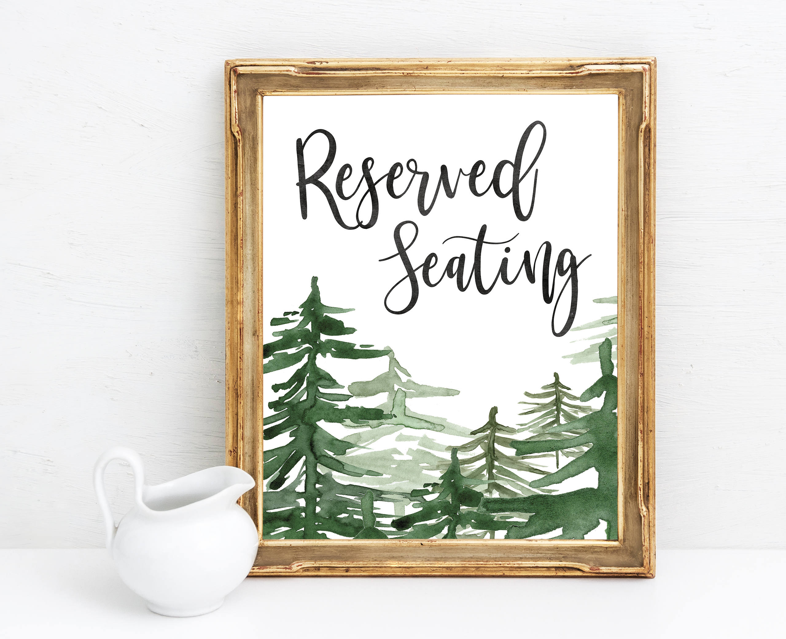 Reserved Seating Sign Wedding