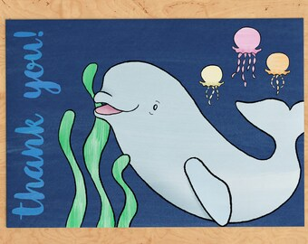 Baby Beluga Thank You Card