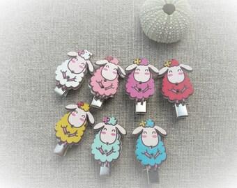 Sheep hair barrette barrette anti-slip alligator anti-slip set of 2 hair clips