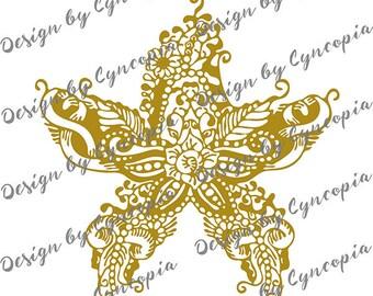 Starfish zendoodle plot