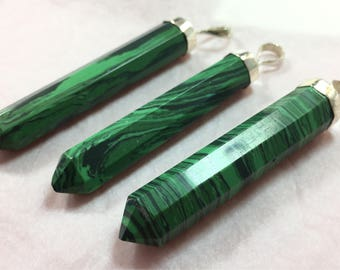 3 pieces malachite pendants sterling with 925 silver C2