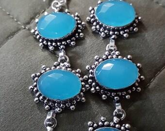 Blue Chalcedony Earrings !