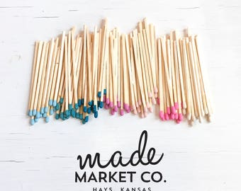 Refill Tip Colored Matches. Match Sticks Decorative. Farmhouse Nordic Home Decor. Unique Gifts for her. Best Seller Most Popular Wholesale