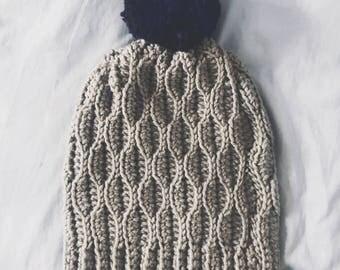 Sweet Birch Beanie Crochet Pattern - Intermediate Level Crochet Hat Worked Flat