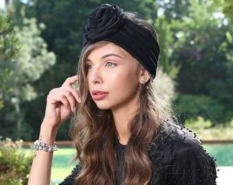 black headband, fashion headband, headband, flower headbands, turban headband, women's headbands, hair headbands, wide headbands
