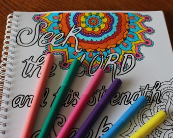 Search The Scriptures A4 Spiral Bound Coloring Book Contains 30 Pages On Thick 160gsm