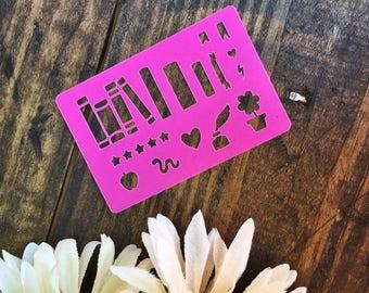 Book Nerd DIY Bookshelf Mini Bullet Journal Planner Stencil