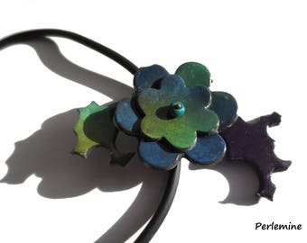 Emergence, polymer clay necklace.