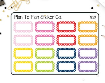 1229~~Scalloped Half Box Planner Stickers.