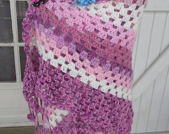 Gradient pink shawl