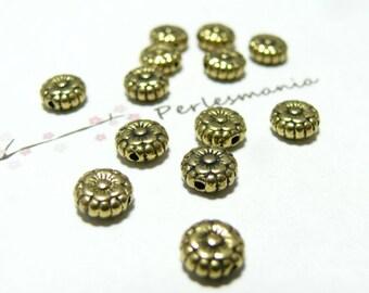 50 PCs beads flat flower Golden sunflower 264Y No.