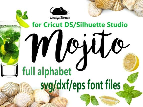 Svg Font Cricut Silhouette Digital Full Alphabet SVG DXF EPS