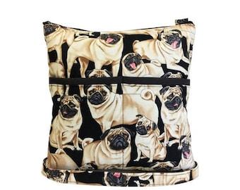 20% OFF SALE Pugs Crossbody Bag // Sling Bag // Crossbody Purse // Shoulder Bag // Hipster