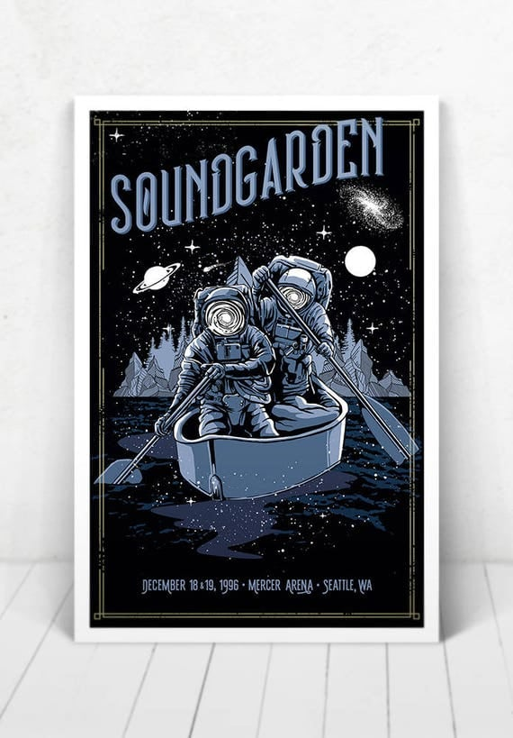Soundgarden Concert Poster - Illustration [Soundgarden / Mercer Arena Seattle, WA - Dec 18 & 19, 1996]