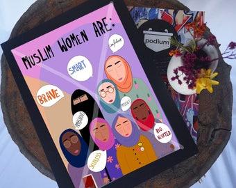 A4 'Muslim women are' print