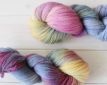 Diana - Wonder Woman themed hand dyed yarn - 100% organic yarn - fingering weight - 100g skein