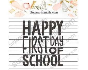 First day of school cookie stencil NB900749