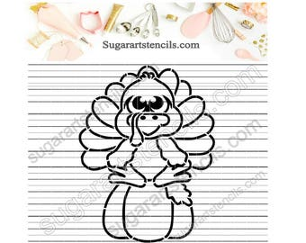 Thanksgiving PYO cookie Stencil turkey Fall Paint your own ST00392