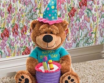 Plush Musical Happy Birthday Bear