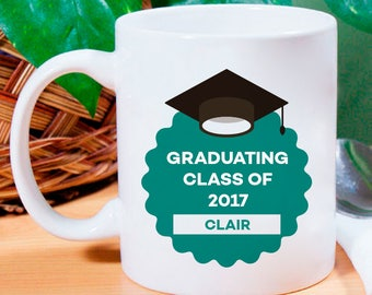 Graduating Class of 2017 Personalized Mug With Name Printed On It