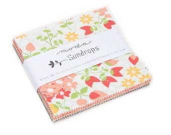 Moda Sundrops Charm Pack by Cory Yoder- Little Miss Shabby - Coriander Quilts