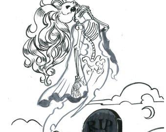 Inktober Day 30: Ghost Witch