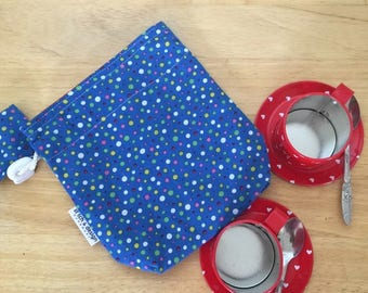 Going Dotty Mini Grab n Play Drawstring bag, fully lined and with cord lock - perfect to carry a small selection of toys