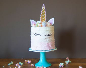 Unicorn cake topper, Unicorn horn and ears cake topper, unicorn party, unicorn decorations, unicorn party decorations