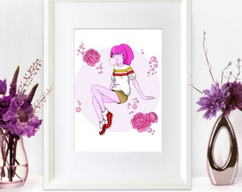 Princess Bubblegum • Adventure Time • Stakes • 5x7 Print • Cute Card