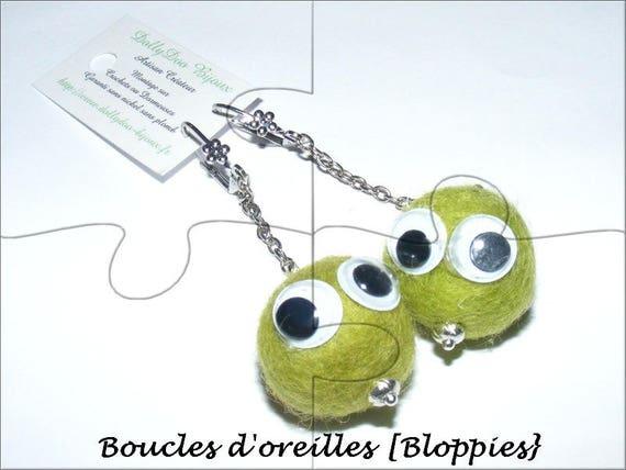 Kind of Designer [Bloppies] lime green earrings