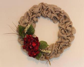 Burgandy Hydrangea Wreath