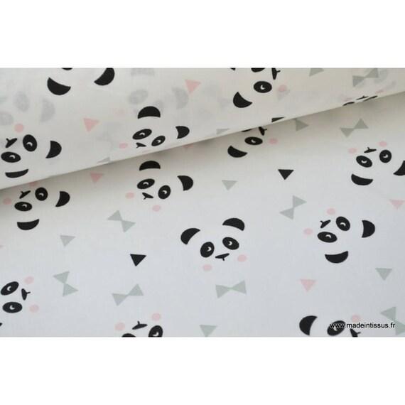 Tissu 100 coton dessin panda blanc x50cm - Housses de couettes originales ...