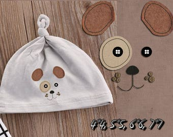 Machine Embroidery Design - Dog applique, babies applique 4*4  5*5  6*6  7*7 AK 002