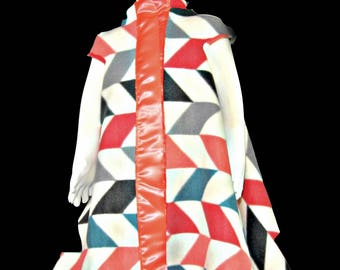 Lovey Coat in Chevorange