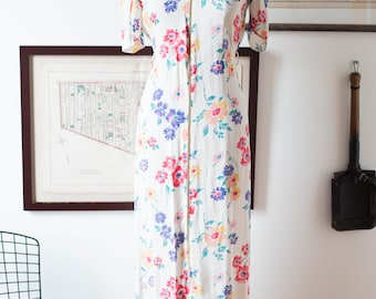 40's Floral Dressing Gown