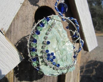 Blue Flower - Stone Sun Catcher #0027