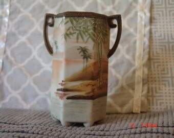 Nippon Vase with Raised Bamboo Leaves