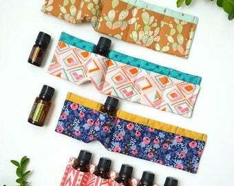 Essential Oil Insert, padded oil sleeve, essential oil insert, essential oil storage, 5 oil sleeve, purse insert, essential oil gift