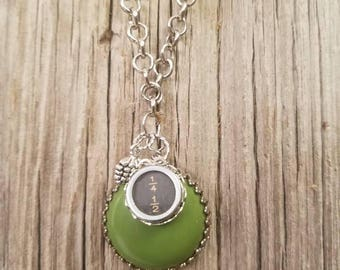 Beautiful up cycled necklace.Vintage repurposed necklace. Typewriter key necklace.