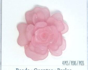 Pink rose pendant etsy pink rose pendant rose lucite pendant large flower pendant pink lucite pendant audiocablefo light ideas
